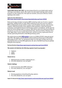 IPIN (Indoor Positioning And Indoor Navigation) Market Research 2021