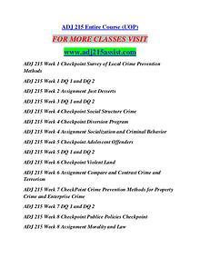 ADJ 215 ASSIST Learn by Doing/adj215assist.com