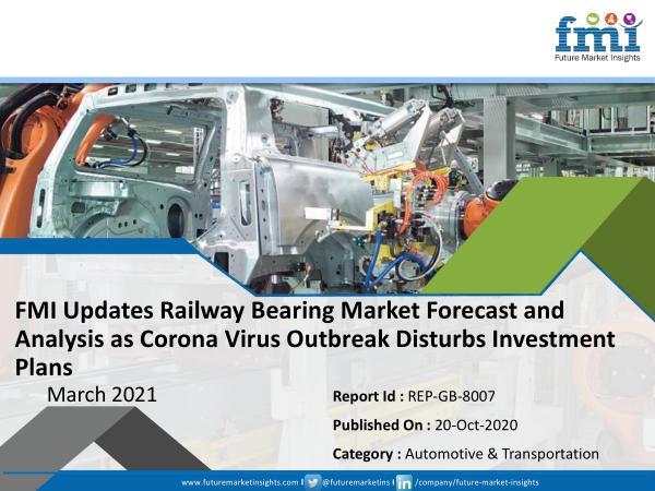 FMI Updates Railway Bearing Market Forecast