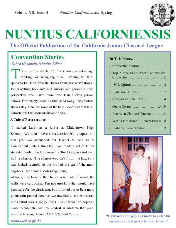Nuntius Californiensis Spring 2017 Nuntius Californiensis-1