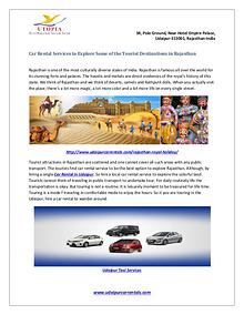 Car rental services to explore some of the tourist destinations in ra