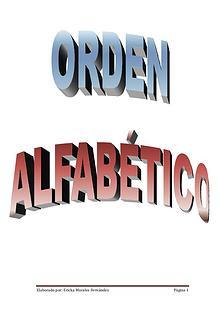 Orden Alfabético - Ericka Morales