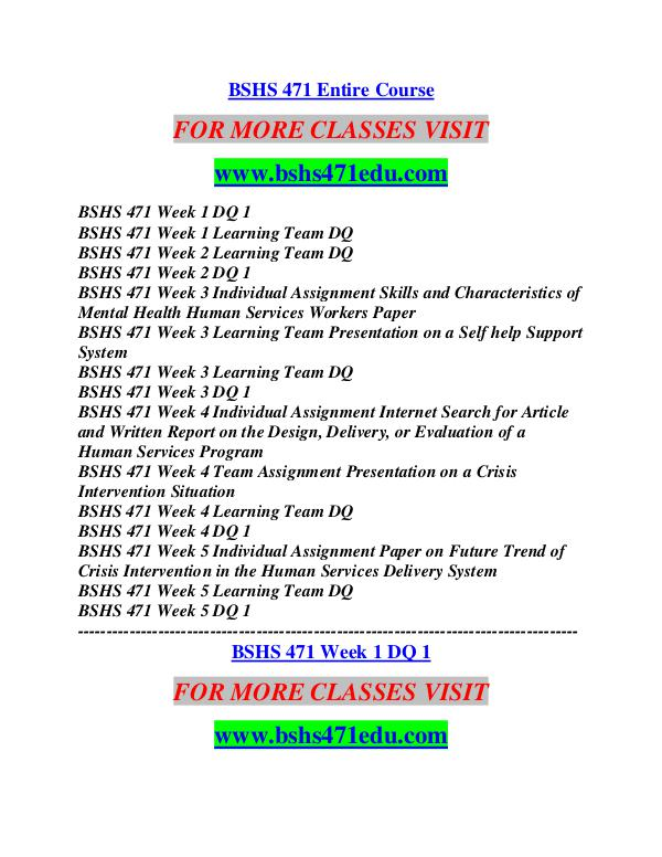 BSHS 471 EDU Career Path Begins/bshs471edu.com BSHS 471 EDU Career Path Begins/bshs471edu.com