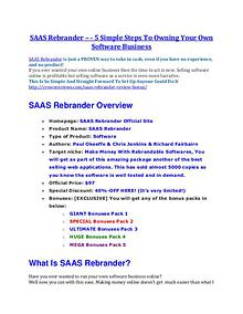 SAAS Rebrander review & bonuses - cool weapon