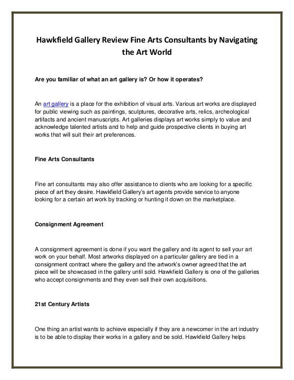 Hawkfield Gallery Review Fine Arts Consultants by Navigating the Art Hawkfield Gallery Review Fine Arts