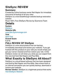 SiteSync Neil Napier PDF Review 1