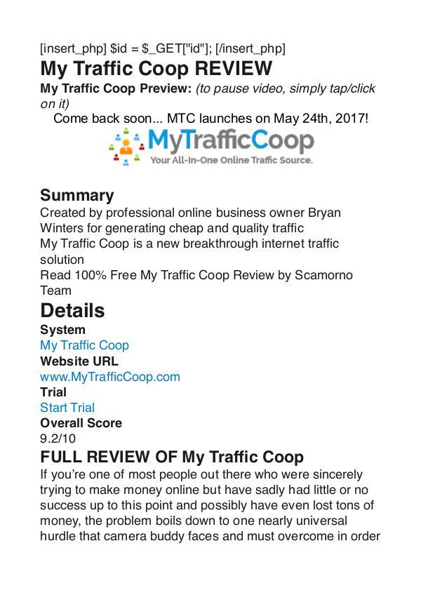 My Traffic Coop Bryan Winters PDF Review 1 My Traffic Coop Bryan Winters PDF Review 1
