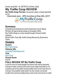 My Traffic Coop Bryan Winters PDF Review 1