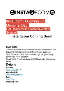 Insta Ecom 2017 James Renouf PDF Review 1