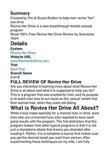 Revive Her Drive PDF Review 1