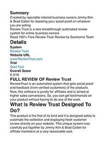 Review Trust Jimmy Kim PDF Review 1