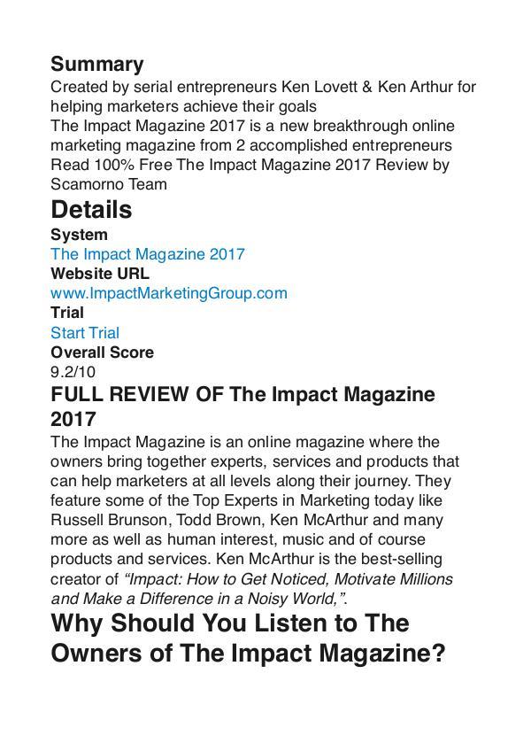 The Impact Magazine Ken Arthur PDF Review 1 The Impact Magazine Ken Arthur PDF Review 1