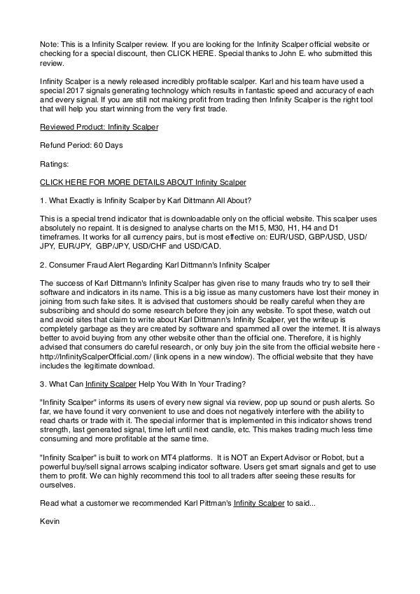 Infinity Scalper Review - Read My Unbiased Review Infinity Scalper Review