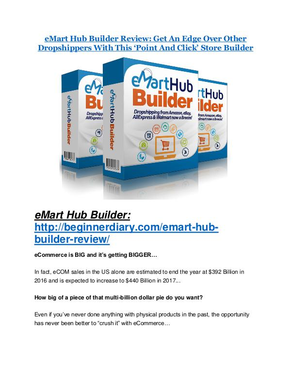 eMart Hub Builder review and sneak peek demo