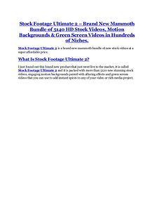 Stock Footage Ultimate 2.0 review & (GIANT) $24,700 bonus