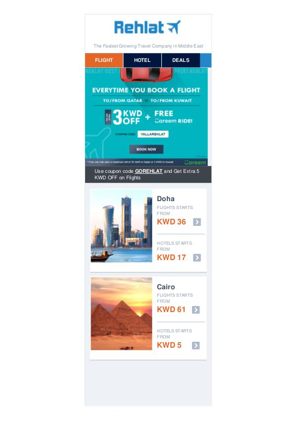 3 KWD OFF & Enjoy Free Careem Taxi Ride on Flight Booking 3 KWD OFF & Enjoy Free Careem Taxi Ride on Flight