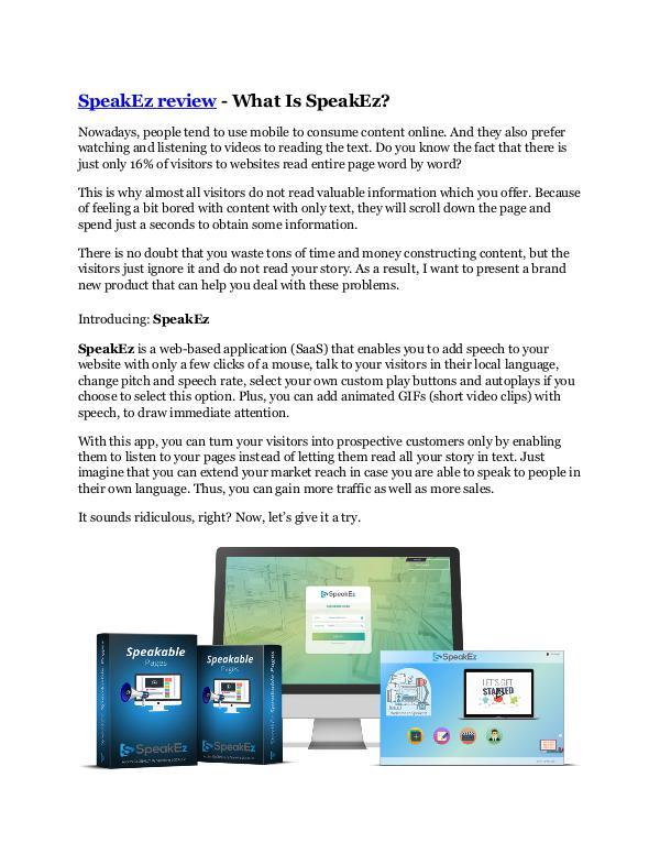 Marketing SpeakEz review in detail – SpeakEz Massive bonus