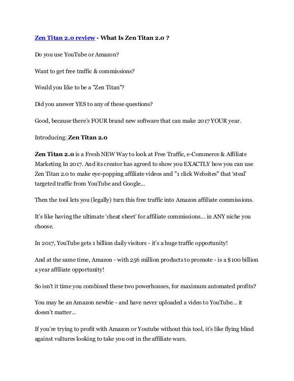 markeitng Zen Titan 2.0 Review & HUGE $23800 Bonuses