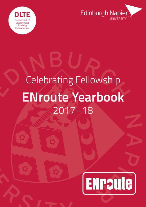 Edinburgh Napier University: ENroute Yearbook 2018 Edition