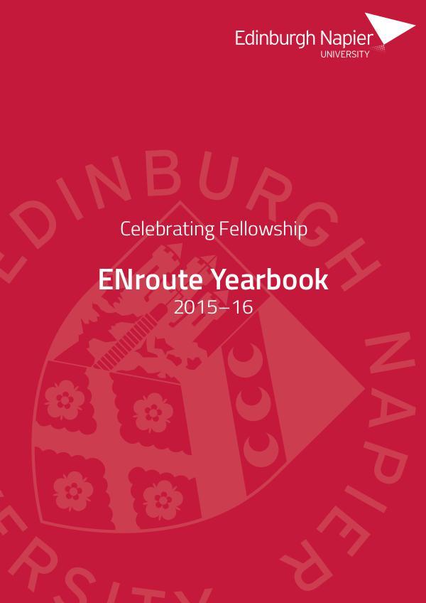 Edinburgh Napier University: ENroute Yearbook 2016 Edition
