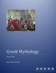 Greek Mythology 2013