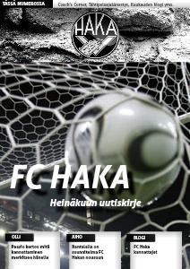 FC HAKA UUTISKIRJE Heinäkuu 2013