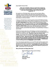 2016 Mississippi FCA Ministry Update
