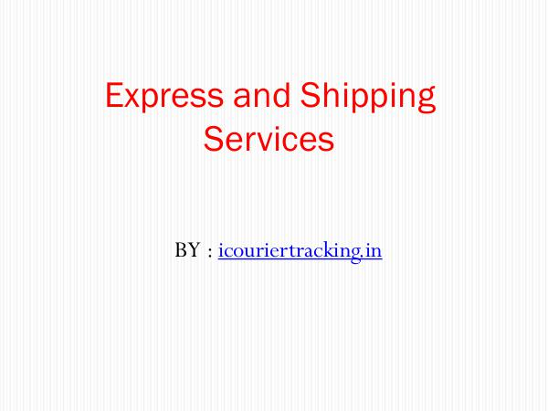 Express and Shipping Services