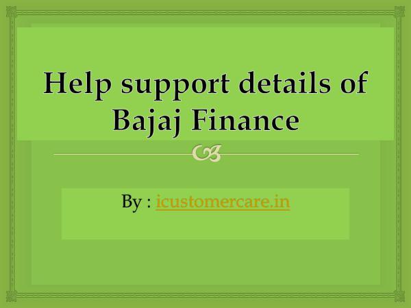 Help support details of Bajaj Finance