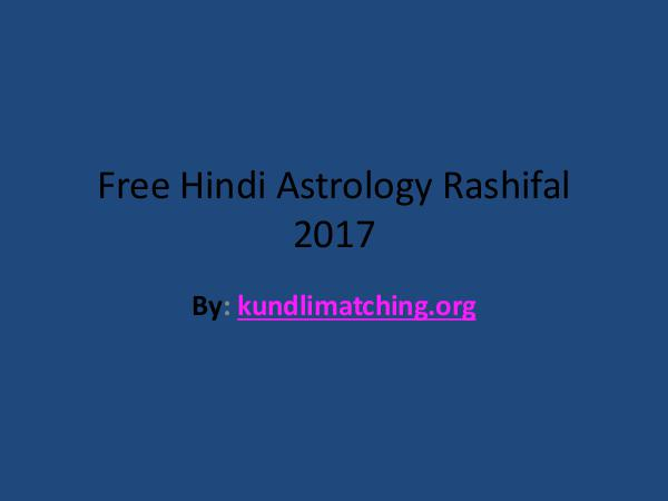 Astrology horoscope Free Hindi Astrology Rashifal 2017