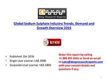 Global Sodium Sulphate Market 2016 Cost, Gross Margin and Demand Anal