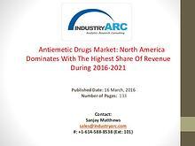 A Research Study On Antiemetic Drugs Market Analysis | IndustryARC