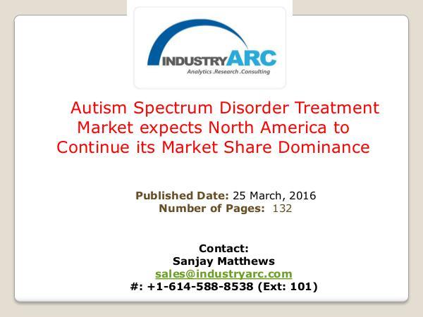 Autism Spectrum Disorder  Treatment Market Autism Spectrum Disorder Treatment Market