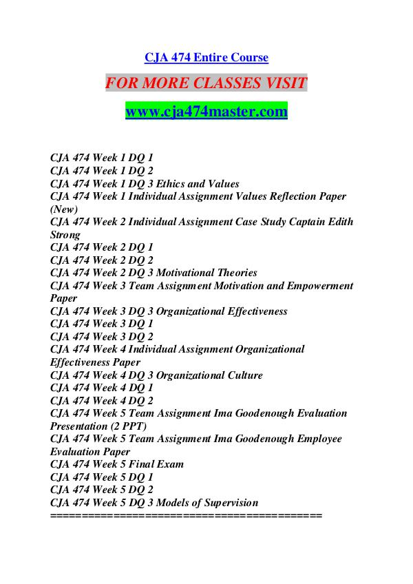CJA 474 MASTER Future Starts Here/cja474master.com CJA 474 MASTER Future Starts Here/cja474master.com