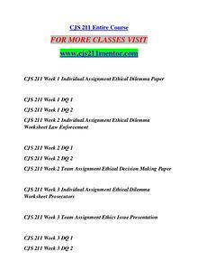 CJS 211 MENTOR Future Starts Here/cjs211mentor.com