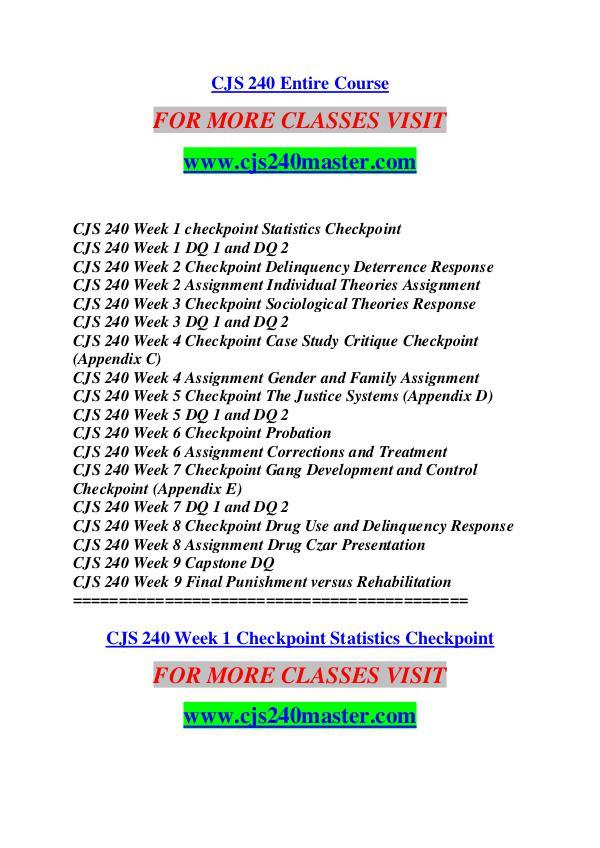 CJS 240 MASTER Future Starts Here/cjs240master.com CJS 240 MASTER Future Starts Here/cjs240master.com