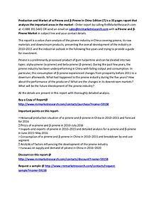 α-Pinene and β-Pinene China Market Report