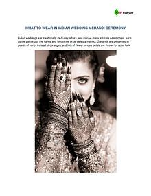 WHAT TO WEAR IN INDIAN WEDDING MEHANDI CEREMONY