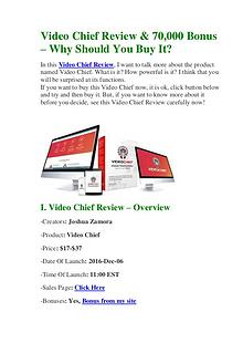 Video Chief Review & 70,000 Bonus - Why Should You Buy It?