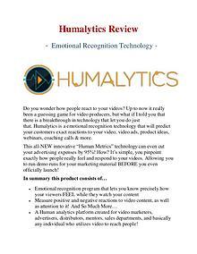 Best Humalytics Review