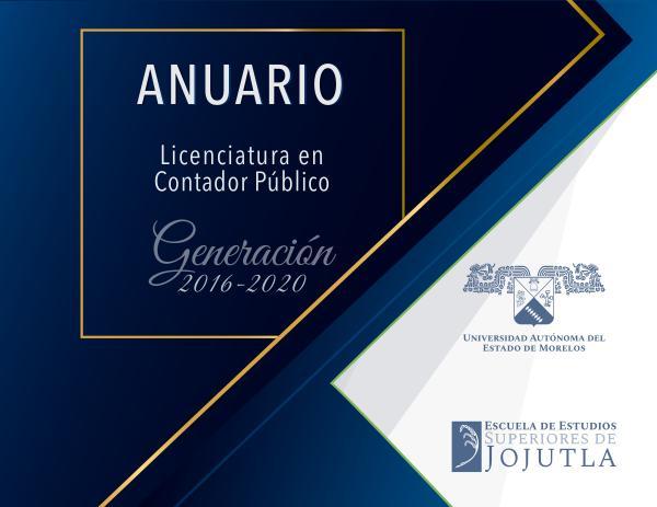 Anuario_Contador Público Generación 2016-2020 EESJojutla