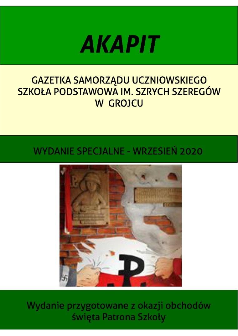 Akapit Gazetka Samorządu Uczniowskiego SP w Grojcu