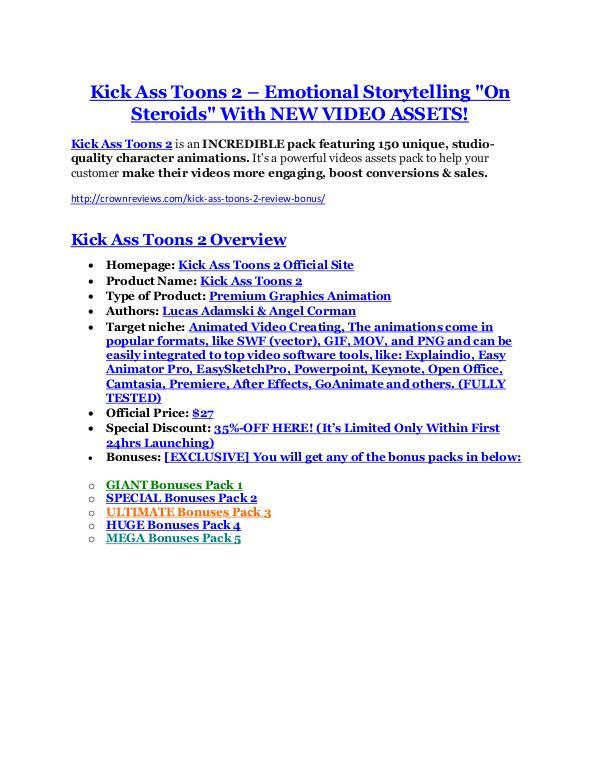 marketing Kick Ass Toons 2 review & (GIANT) $24,700 bonus