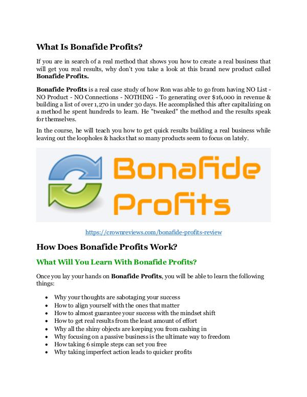 Bonafide Profits review - $26,800 bonus & discount