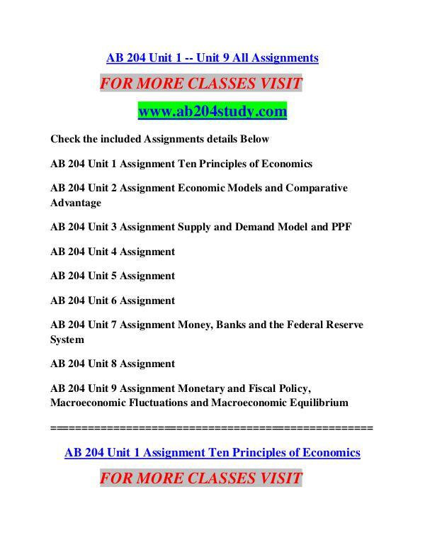 AB 204 STUDY Education  Terms/ab204study.com AB 204 STUDY Education  Terms/ab204study.com