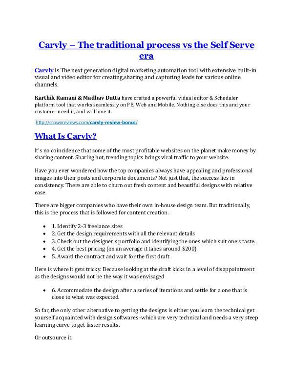 Carvly review- Carvly (MEGA) $21,400 bonus