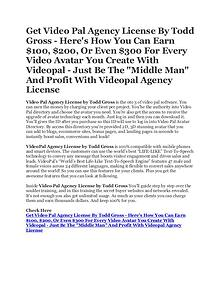 Get Video Pal Agency License by Todd Gross