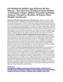 MultiStore Builder Affiliate eCommerce Software