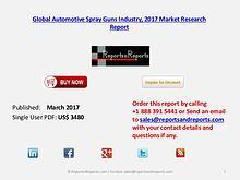 Global Forecasts on Automotive Spray Guns Market Analysis to 2022