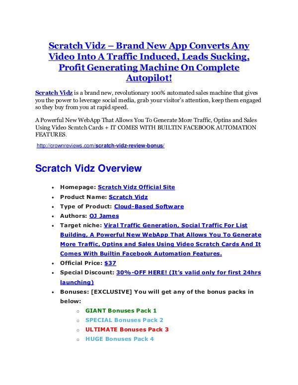 Scratch Vidz reviews and bonuses Scratch Vidz